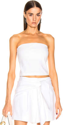 fbed3f0d43 Tibi Structured Strapless Top in White