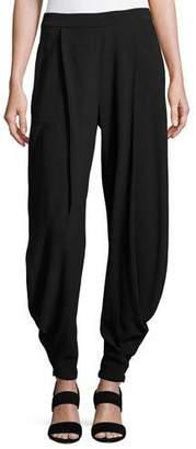 Ralph Lauren Kersten Draped Harem Pants, Black