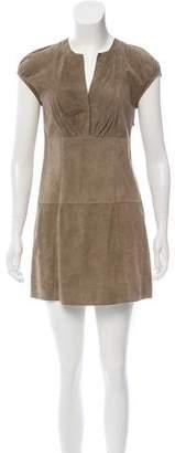 Brunello Cucinelli Monili-Accented Suede Dress