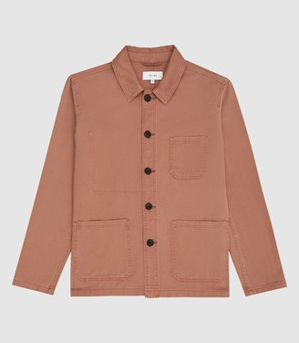 Reiss Conley - Casual Worker Jacket in Pink