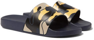 Valentino Camouflage-Print Rubber Slides