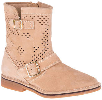 Hush Puppies Womens Aydin Catelyn Perf Motorcycle Boots Zip