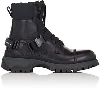 Prada Women's Buckled-Strap Leather Ankle Boots