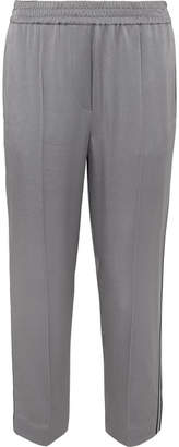 Brunello Cucinelli Satin Track Pants - Blue