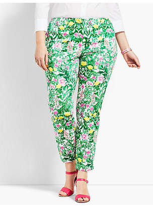 Talbots Plus Size Exclusive Slim Ankle Pant - Garden Print