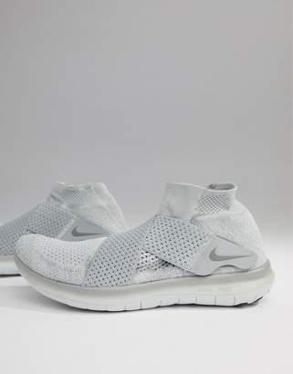Nike Running Free Run Motion Flyknit 2017 Sneakers In Grey 880845-005