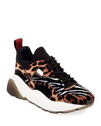 Stella McCartney Eclypse Leopard and Zebra Sneakers