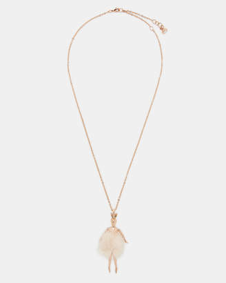 Ted Baker BUSSLE Bunny tail ballerina necklace
