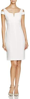 Adrianna Papell Cold-Shoulder Sheath Dress $140 thestylecure.com