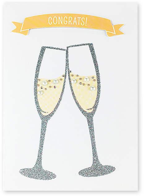 'Congrats' Toast to Love Wedding Card - Set of Six