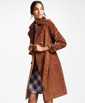 Brooks Brothers Water-Repellent Cotton Corduroy Trench Coat