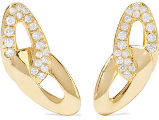 Ippolita Cherish Bond 18-karat Gold Diamond Earrings