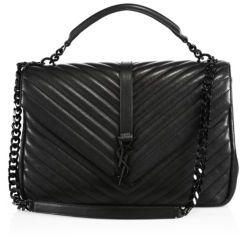 Saint LaurentSaint Laurent Large College Monogram Leather Bag