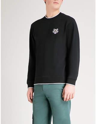 Kenzo Tiger-motif cotton-jersey sweatshirt