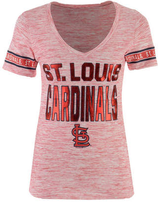 5th & Ocean Women's St. Louis Cardinals Space Dye Sleeve T-Shirt