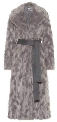 Stella McCartney Belted faux fur coat