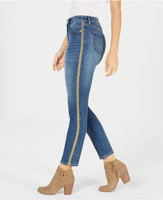 Style&Co. Style & Co Petite Curvy Side-Stripe Skinny Jeans