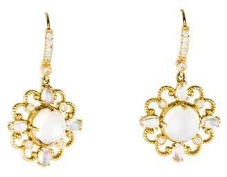 Penny Preville 18K Moonstone & Diamond Drop Earrings