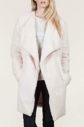 En Creme Faux Fur Jacket