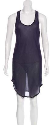 Isabel Marant Sheer Silk Sleeveless Dress