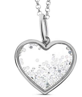 Cosanuova Medium Floating Heart Necklace