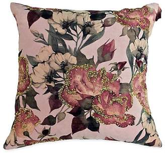 Callisto Home Dusty Velvet Floral Decorative Pillow
