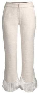 Alexis Tatum Crop Flare Fringe Pants