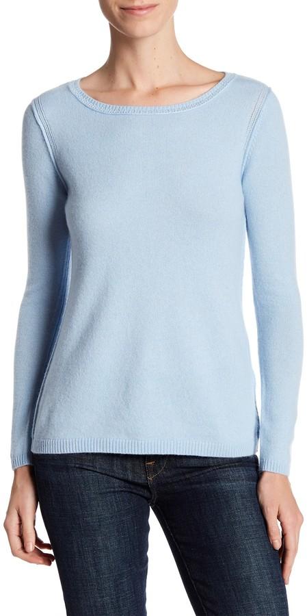 In Cashmere Cashmere Open-Stitch Pullover Sweater 7