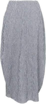 Jil Sander relaxed fit gingham print midi skirt