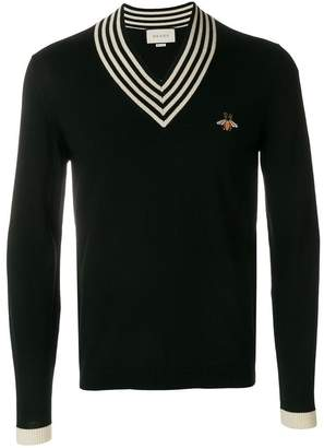 Gucci bee appliqué sweater