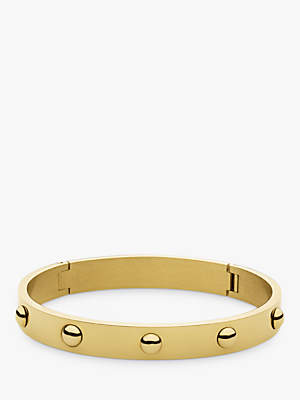 Dyrberg/Kern Hinged Click-On Bangle, Gold