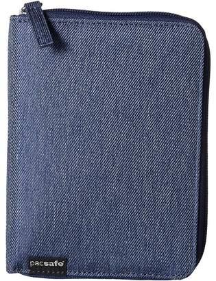 Pacsafe RFIDsafe LX150 RFID Blocking Zippered Passport Wallet Wallet Handbags