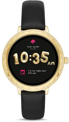 Kate Spade Gold-Tone Scalloped Case Smartwatch, 42mm