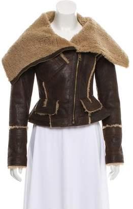 Burberry Asymmetrical Shearling Jacket w/ Tags
