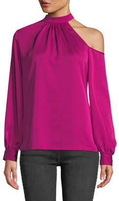 Trina Turk Negroni Asymmetric Long-Sleeve Top