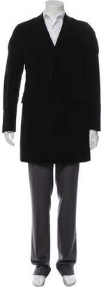 Prada Structured Velvet Overcoat