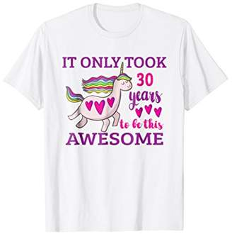 Unique Unicorn 30th Birthday Gift T-Shirt