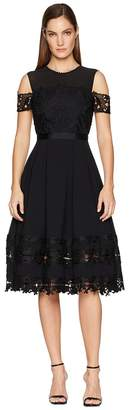 Ted Baker Nacii Structured Lace Midi Dress Women's Dress