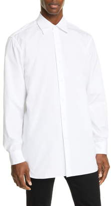 Dries Van Noten Relaxed Fit White Button-Up Shirt