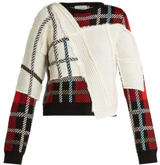 Preen by Thornton Bregazzi Rita Tartan Knit Sweater - Womens - Red Multi