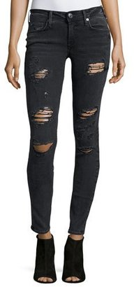 True Religion Casey Low-Rise Super-Skinny Jeans, Smoke Stack Destroyed $229 thestylecure.com