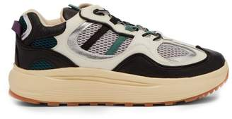 Eytys Jet Turbo Low Top Leather Trainers - Mens - White Multi