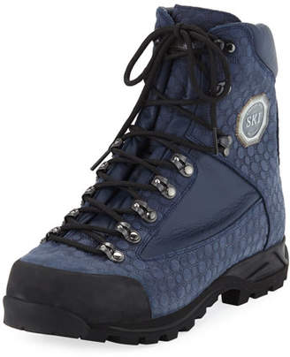 Stefano Ricci Men's Embossed Leather Hiking Boots
