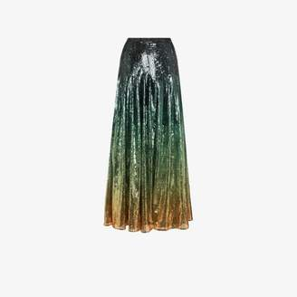 Mary Katrantzou Clement ombre sequinned skirt