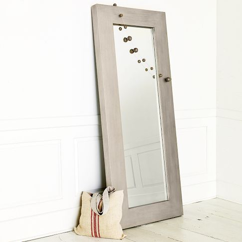 Chunky Wood Floor Mirror