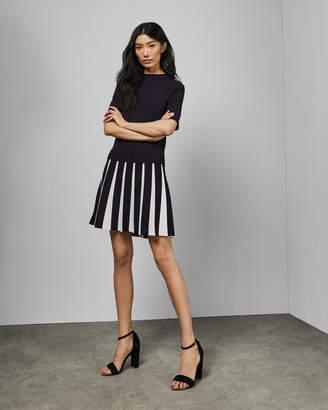 Ted Baker HETHIA Pleated skirt knitted flippy dress