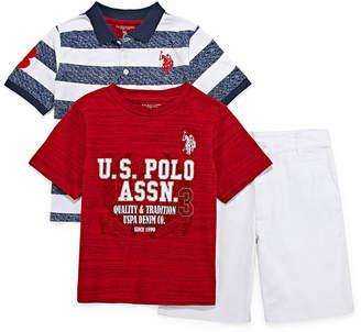 U.S. Polo Assn. USPA 3-pc. Short Set Boys