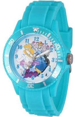 Disney Princess Cinderella, Fairy Godmother Women's White Plastic Watch, Blue Bezel, Blue Plastic Strap