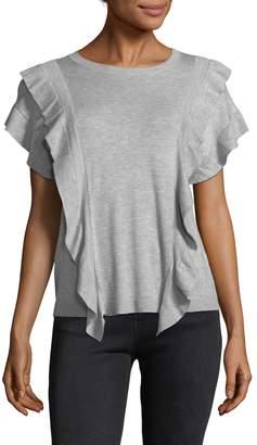 Cliche Women's Ruffle Trim T-Shirt