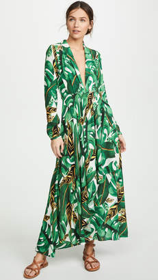 FARM Rio Max Amazonia Long Sleeve Wrap Dress